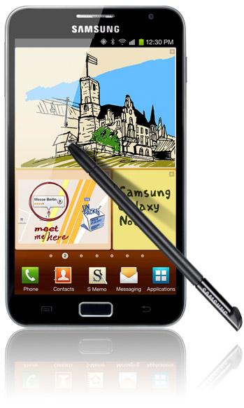 Samsung Galaxy Note med S-pen