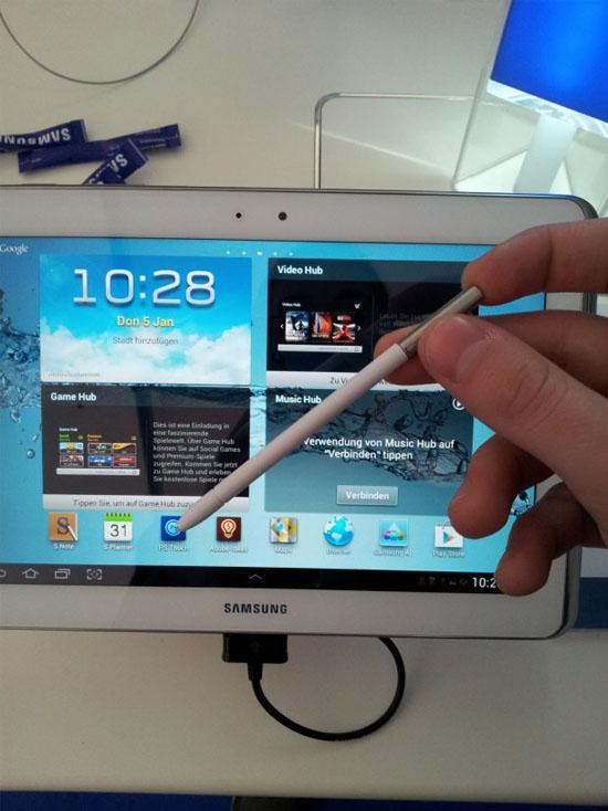 Uppdaterad Galaxy Note 10.1 med S-Pen